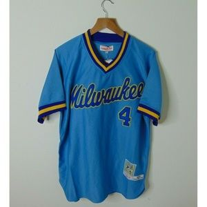 NEW Mitchell & Ness 50 Brewers Paul Molitor Jersey